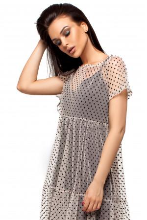 Платье «Джина» бежевого цвета
