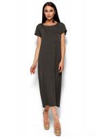 Платье «Гвинет» темно-серого цвета