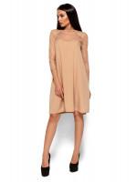 Платье «Рина» бежевого цвета