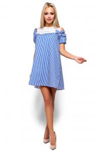 Платье «Киви» синего цвета