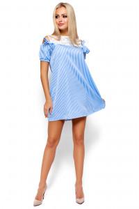 Платье «Киви» голубого цвета