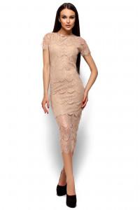 Платье «Мелис» бежевого цвета