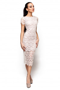 Платье «Мелис» молочного цвета