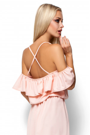 Платье «Дина» розового цвета