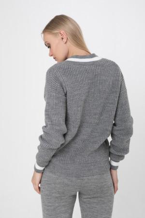 Джемпер «Брунгільда» сірого кольору