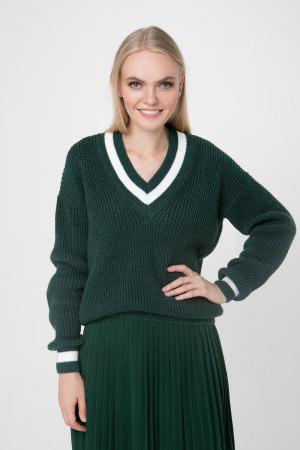 Джемпер «Брунгильда» темно-зеленого цвета