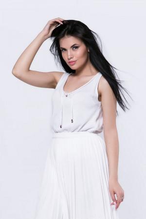 Майка «Джени» белого цвета