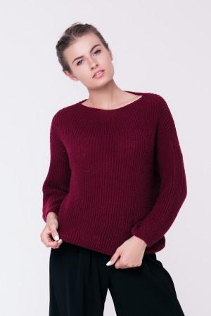 Джемпер «Суфле» кольору бордо