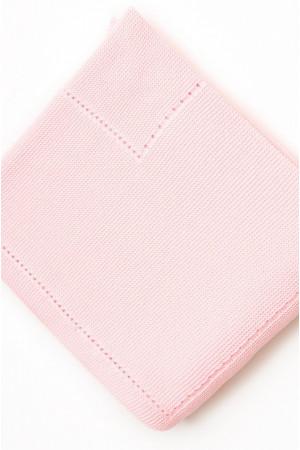 Ажурный плед розового цвета, 140х120 см