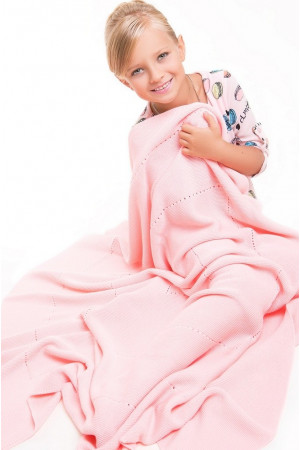 Ажурний плед рожевого кольору, 140х120 см
