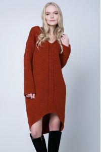 Платье «Штеффи» кирпичного цвета