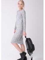 Платье «Ажур» светло-серого цвета