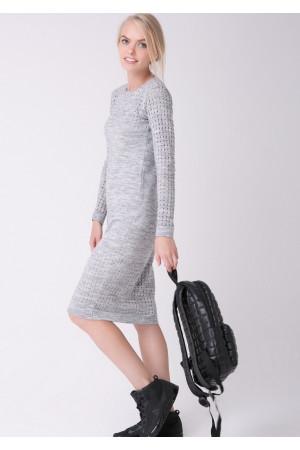 Сукня «Ажур» світло-сірого кольору