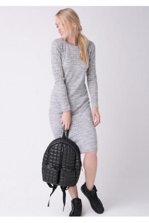 Сукня «Ажур» сірого кольору
