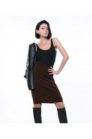 Спідниця «Леді» коричневого кольору