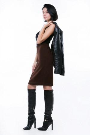 Юбка «Леди» коричневого цвета