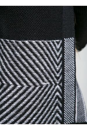 Кардиган «Пітбуль» чорного кольору з білим