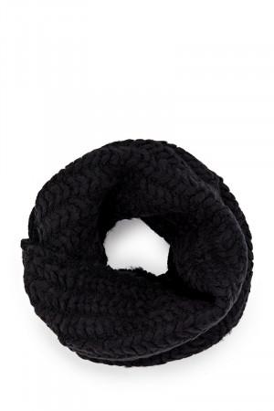 Снуд «Макраме» черного цвета