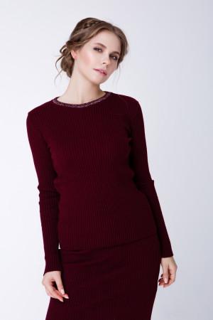 Джемпер «Смарт» бордового кольору