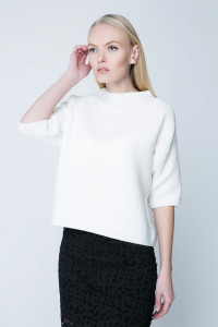Джемпер «Элли» белого цвета