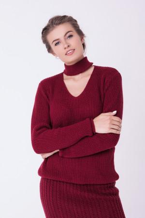 Джемпер «Бест» бордового цвета