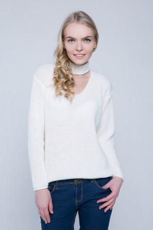 Джемпер «Бест» белого цвета