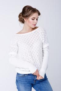 Джемпер «Астра» белого цвета