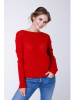 Джемпер «Астра» червоного кольору
