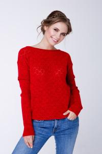 Джемпер «Астра» красного цвета