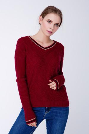 Джемпер «Барбарис» бордового цвета