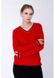 Джемпер «Барбарис» червоного кольору