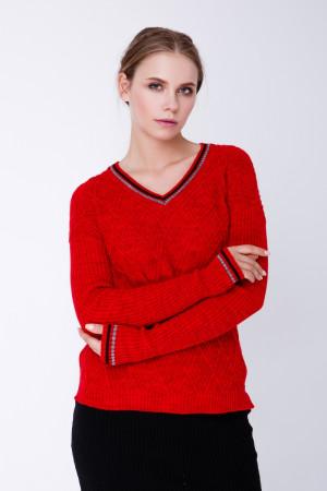 Джемпер «Барбарис» красного цвета