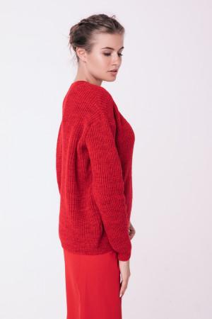 Джемпер «Кут» красного цвета