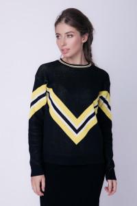 Джемпер «Чемпіон» чорного кольору з жовтим