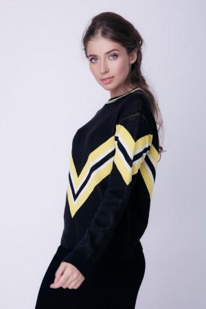 Джемпер «Чемпион» черного цвета с желтым
