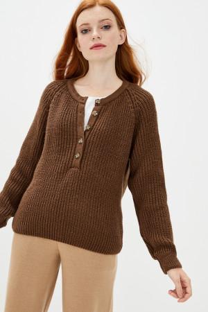 Джемпер «Кантри» коричневого цвета