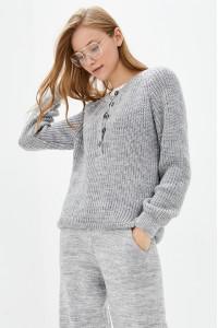 Джемпер «Кантри» цвета светло-серый меланж