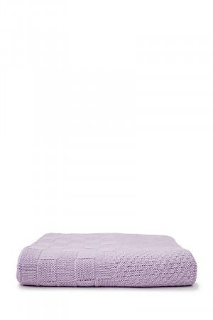 Плед «Шахи» бузкового кольору, 120х120 см