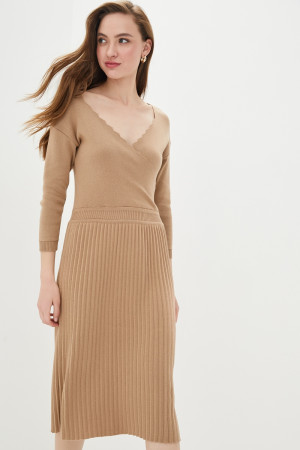 Платье «Диляра» цвета кэмел