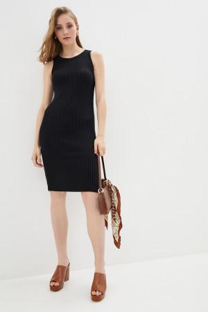 Вязаное платье «Бохо» черного цвета