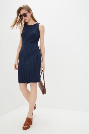 Вязаное платье «Бохо» темно-синего цвета