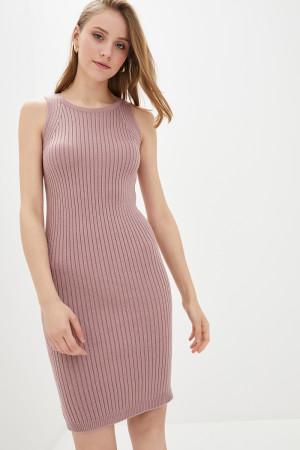 Вязаное платье «Бохо» цвета пудры