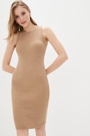 Вязаное платье «Бохо» цвета кэмел