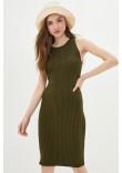 В'язана сукня «Бохо» кольору хакі