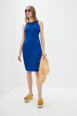 В'язана сукня «Бохо» кольору ультрамарин