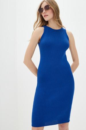 Вязаное платье «Бохо» цвета ультрамарин