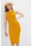 В'язана сукня «Бохо» гірчичного кольору