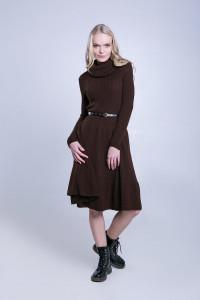 Платье «Мери» коричневого цвета