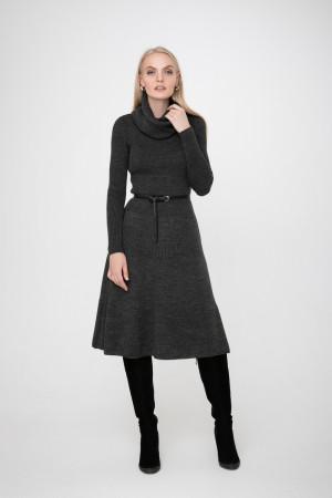Платье «Мери» темно-серого цвета