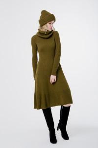 Платье «Мери» цвета хаки